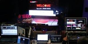 עמדת ניתוב וידאו בארוע TEDxJerusalem